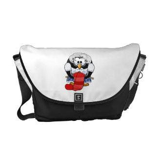 Sweet Cartoon Grandma Penguin Courier Bag
