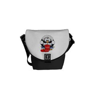 Sweet Cartoon Grandma Penguin Messenger Bags