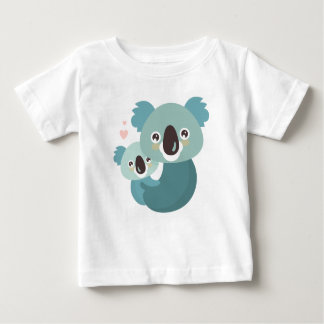 Sweet cartoon koala mother and baby hugging baby T-Shirt