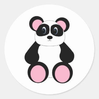 Sweet Cartoon Panda Bear Classic Round Sticker