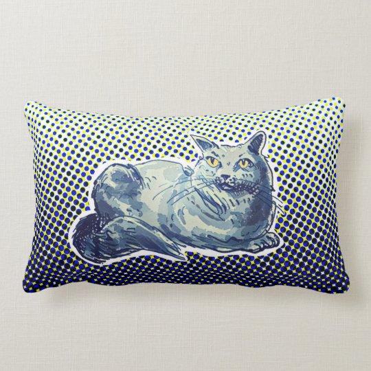 sweet cat british shorthair kitty cartoon lumbar pillow