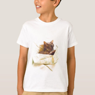 Sweet cat in bed sheets T-Shirt