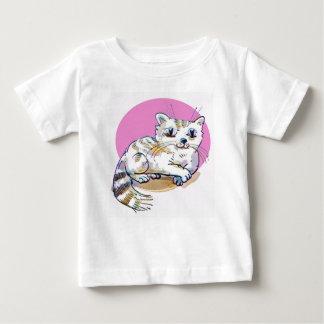 sweet cat lying down cartoon baby T-Shirt