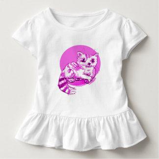 sweet cat lying down cartoon toddler t-shirt