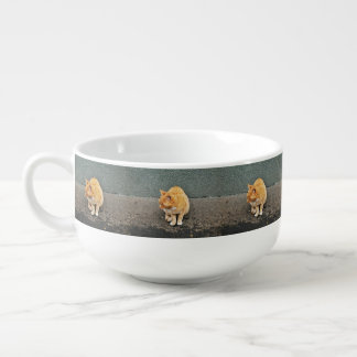 Sweet Cat On The Street Soup Mug