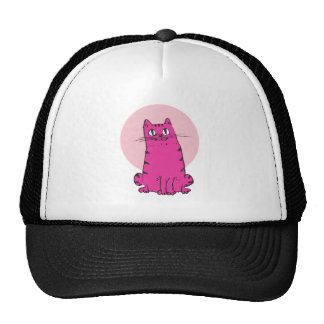 sweet cat sitting funny cartoon trucker hat