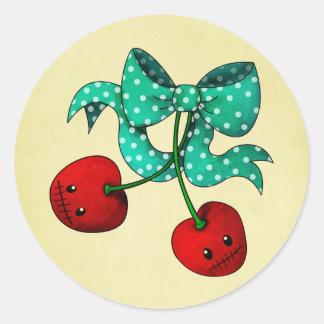 Sweet Cherries Classic Round Sticker