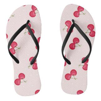 Sweet Cherries Unique Pattern Flip Flops