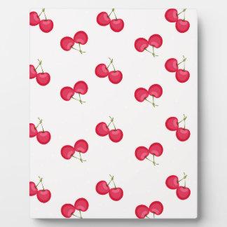 Sweet Cherries Unique Pattern Plaque
