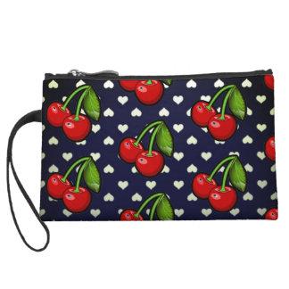 sweet cherry hearts mini clutch