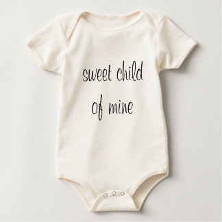 sweet child of mine baby bodysuit