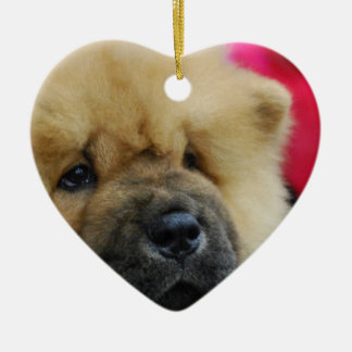 Sweet Chow Chow Ceramic Ornament