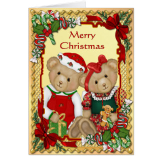Sweet Christmas Bears - Verse Inside Card