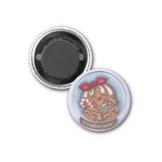 Sweet Christmas Gingerbread and Bear Magnet