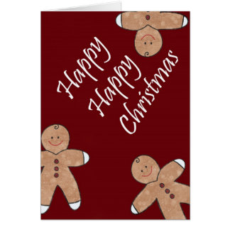 Sweet Christmas Gingerbread Cookies Card