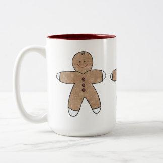Sweet Christmas Gingerbread Cookies Two-Tone Coffee Mug