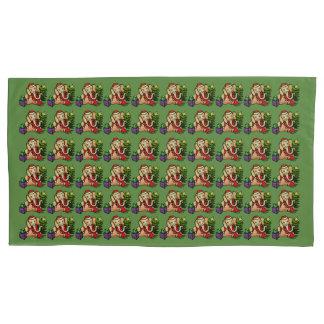 Sweet Christmas Santa Cartoon Elephants Pattern Pillowcase