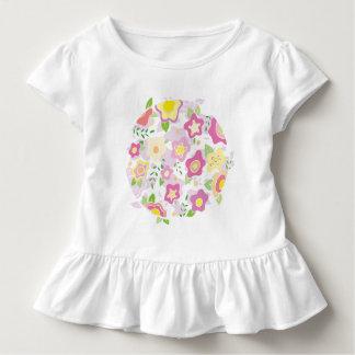 Sweet Circle of Flowers in Pinks Toddler T-shirt