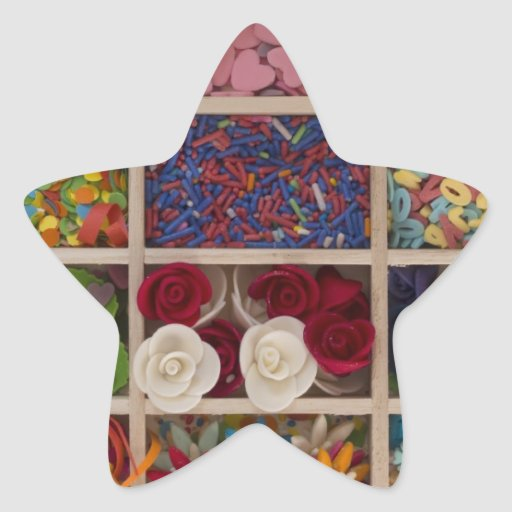 sweet colorful decoration star stickers