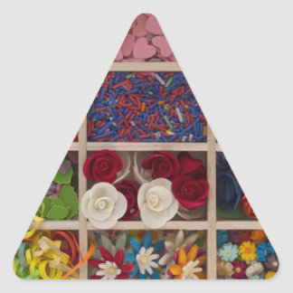 sweet colorful decoration triangle sticker