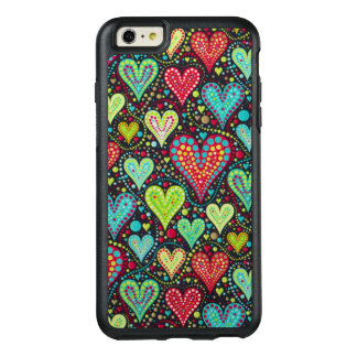 Sweet Colorful Hearts and Dots Design OtterBox iPhone 6/6s Plus Case