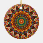 Sweet & Colourful Jellybean Mandala Kaleidoscope Ceramic Ornament