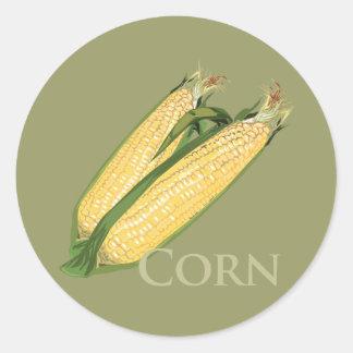 Sweet Corn Classic Round Sticker