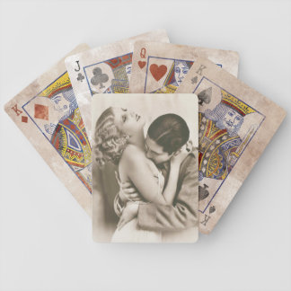 Sweet Couple Kissing Bicycle Playing Cards