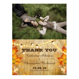 Sweet Couple Laying Grass /fall theme Postcard