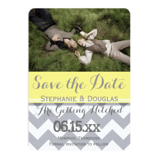 "Sweet Couple Laying Grass /Save The Date 5"" X 7"" Invitation Card"