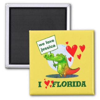 sweet crocodile funny cartoon i love florida magnet