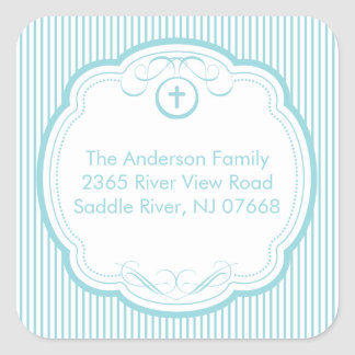 Sweet Cross In Frame Address Sticker Baptism