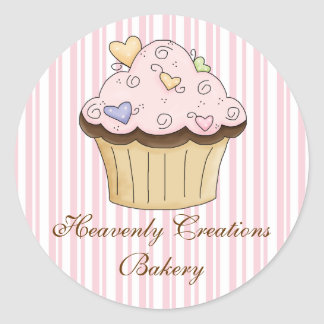 Sweet Cupcake Bakery Stickers