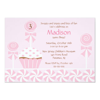 Sweet Cupcake Birthday Invitation