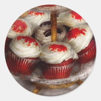 Sweet - Cupcake - Red velvet cupcakes Classic Round Sticker