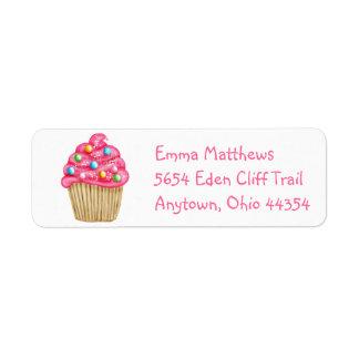 Sweet Cupcake Return Address Labels