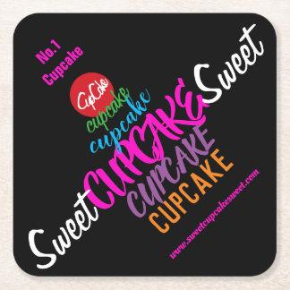 Sweet CUPCAKE Sweet Square Paper Coaster