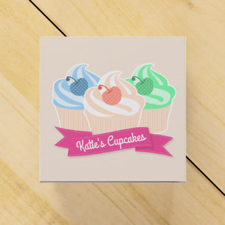 Sweet Cupcake Trio Party Favor Boxes