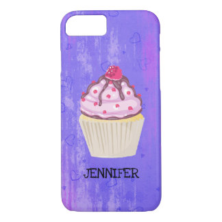 Sweet Cupcake with Raspberry on Top Custom Case-Mate iPhone Case