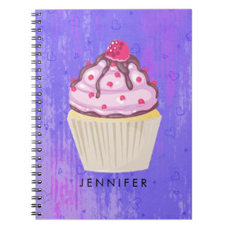 Sweet Cupcake with Raspberry on Top Notebooks