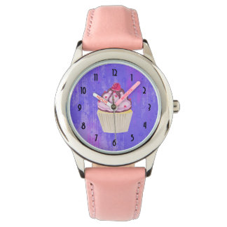 Sweet Cupcake with Raspberry on Top Watch