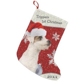 Sweet Customizable Jack Russell Christmas Stocking