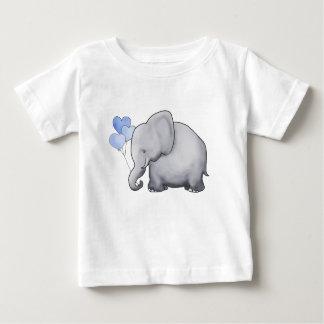 Sweet Cute Adorable Heart Balloons Elephant Baby T-Shirt