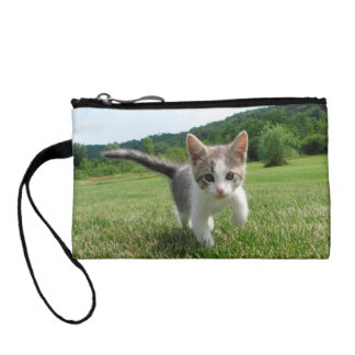 Sweet Cute Cat Change Purses