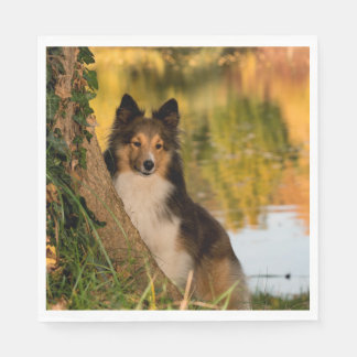 Sweet Cute Dog Paper Napkins