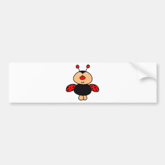 sweet cute ladybug bumper sticker