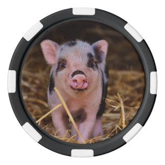 Sweet Cute Pig Poker Chips