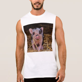 Sweet Cute Pig Sleeveless Shirt