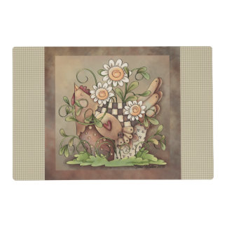 Sweet Daisy Hen Placemat Laminated Place Mat