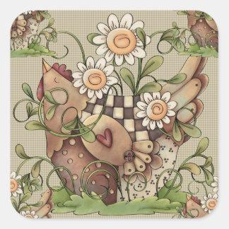 Sweet Daisy Hen Stickers